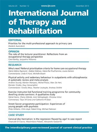 International Journal of Therapy and Rehabilitation Magazine Subscription