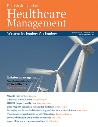 British Journal of Healthcare Management Magazine Subscription