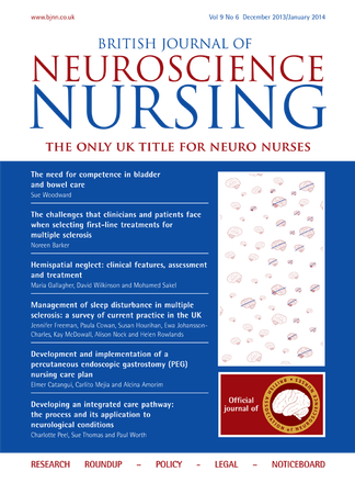 British Journal of Neuroscience Nursing Magazine Subscription