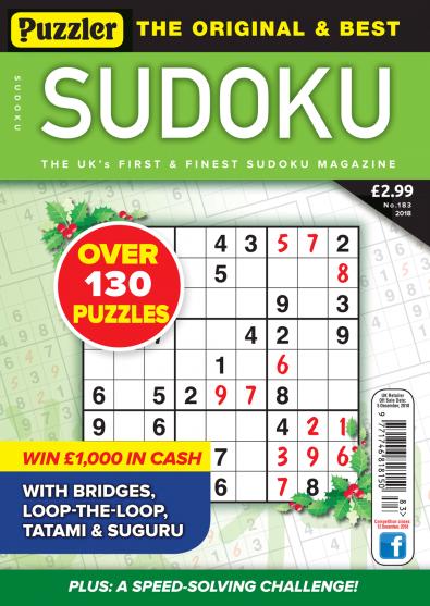 Puzzler Sudoku Magazine Subscription