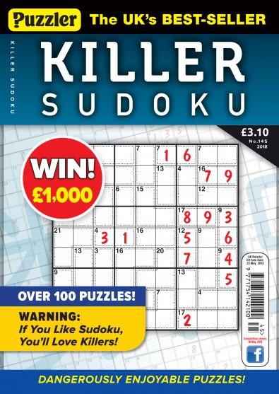 Puzzler Killer Sudoku Magazine Subscription