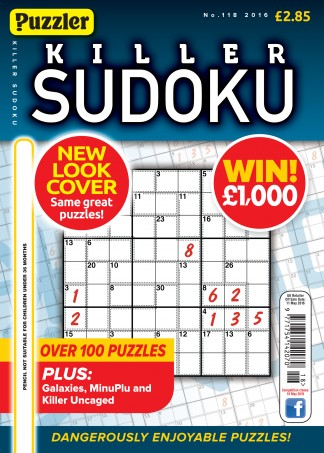 Puzzler Killer Sudoku Magazine Subscription
