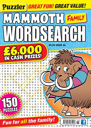 Mammoth Family Wordsearch Magazine Subscription