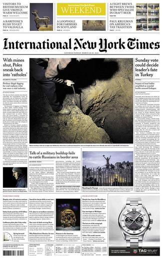 International New York Times Newspaper Subscription