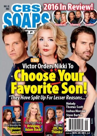 CBS Soaps In Depth Magazine Subscription